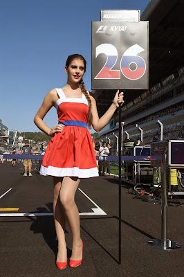 грид-герл Даниила Квята на Гран-при России 2014