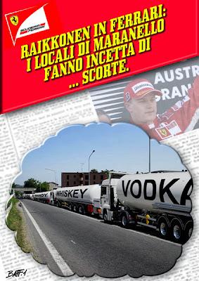 Мараннело пополняет запасы для Кими Райкконена - комикс Baffi