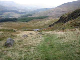 Looking back to Hard Knott Pass