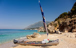 Our canoe on Dhermi beach