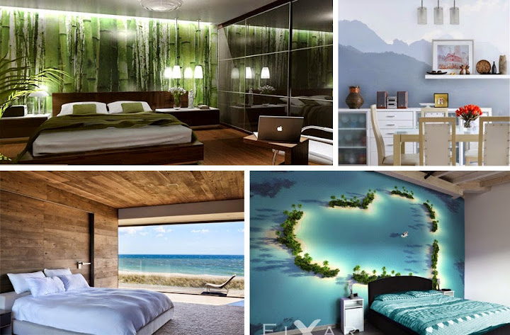 Karibik Für Zu Hause: 40+ Unglaublich Schöne Fototapeten Designs ... Schlafzimmer Wand