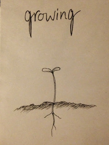 97 Hearts growing sprout drawing