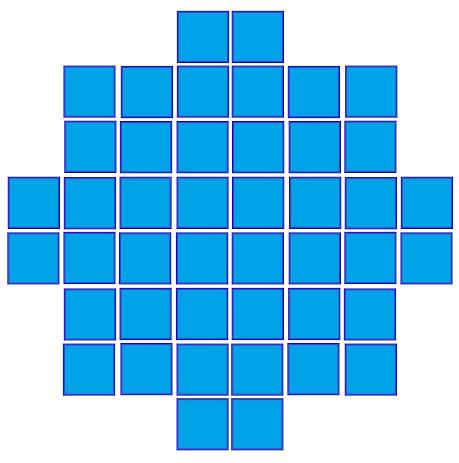 Форма салфетки из квадратных мотивов.