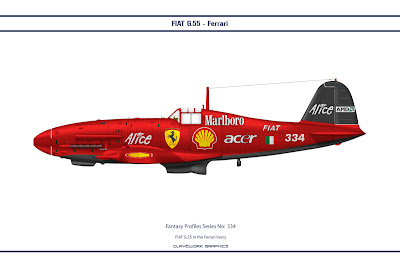 FIAT G.55 in the Ferrari livery
