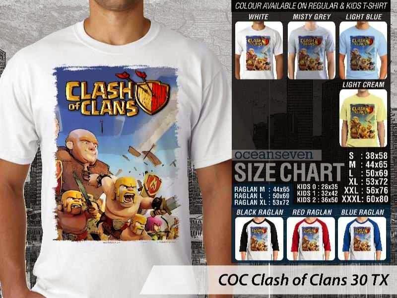 Kaos COC Clash of Clans 30 distro ocean seven