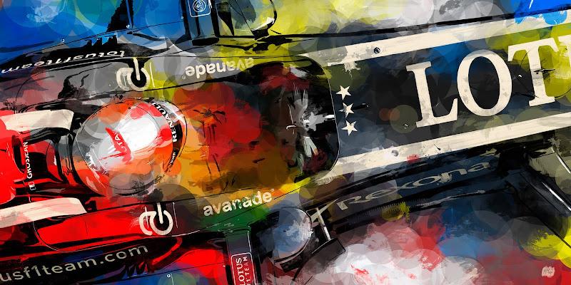 Ромэн Грожан Lotus E21 - рисунок ThePhelp