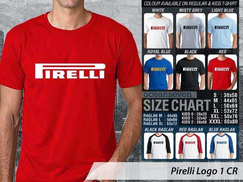 KAOS Pirelli Logo Otomotif distro ocean seven