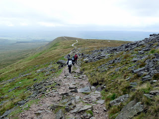 Return path to Little Ingleborough in the rain