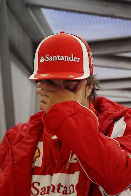 фэйспалм Фернандо Алонсо на Гран-при Бельгии 2011