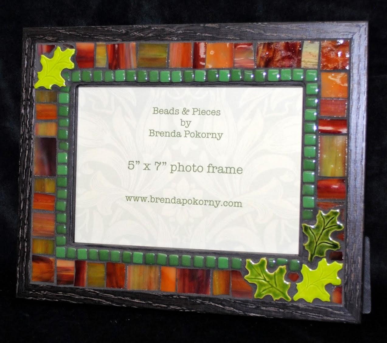 Warm Autumn Leaves 5 x 7 Mosaic Photo Frame MOF1395