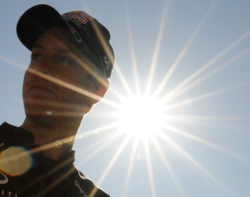 Себастьян Феттель под ярким солнцем Сузуки на Гран-при Японии 2011