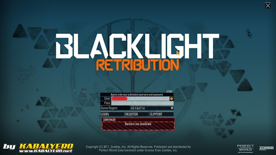 Server not available, Blacklight: Retribution