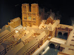 A model of what the area around Notre Dame looked like a few hundred years ago