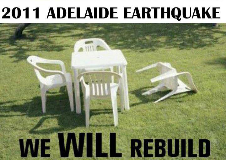 2011 Adelaide Earthquake: We will rebuild.