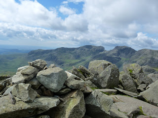 Scafells from Bowfell Summit