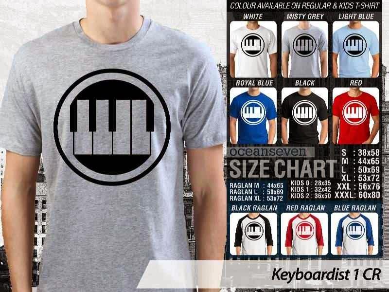 Kaos personel band Keyboardist 11 Personil Band Musik distro ocean seven