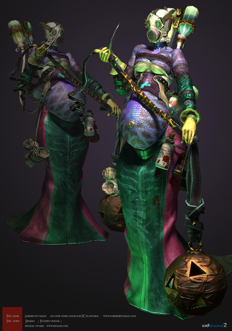 Ngắm artwork tạo hình nhân vật của Panzar