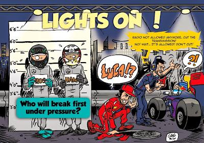ночная гонка Сингапура - комикс Cirebox перед Гран-при Сингапура 2014