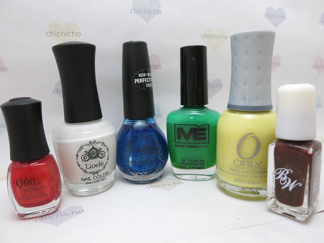 colors for Snow White nail art