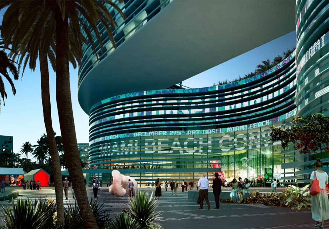 Miami, Florida, Stati Uniti: Oma Wins Miami Beach Convention Center Competition