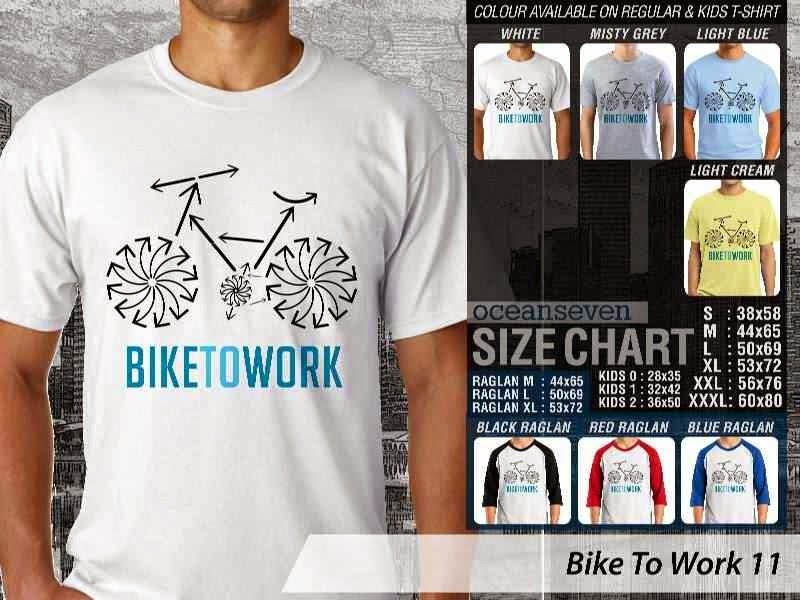 KAOS Bike To Work 11 Sepeda Lovers bicycle distro ocean seven
