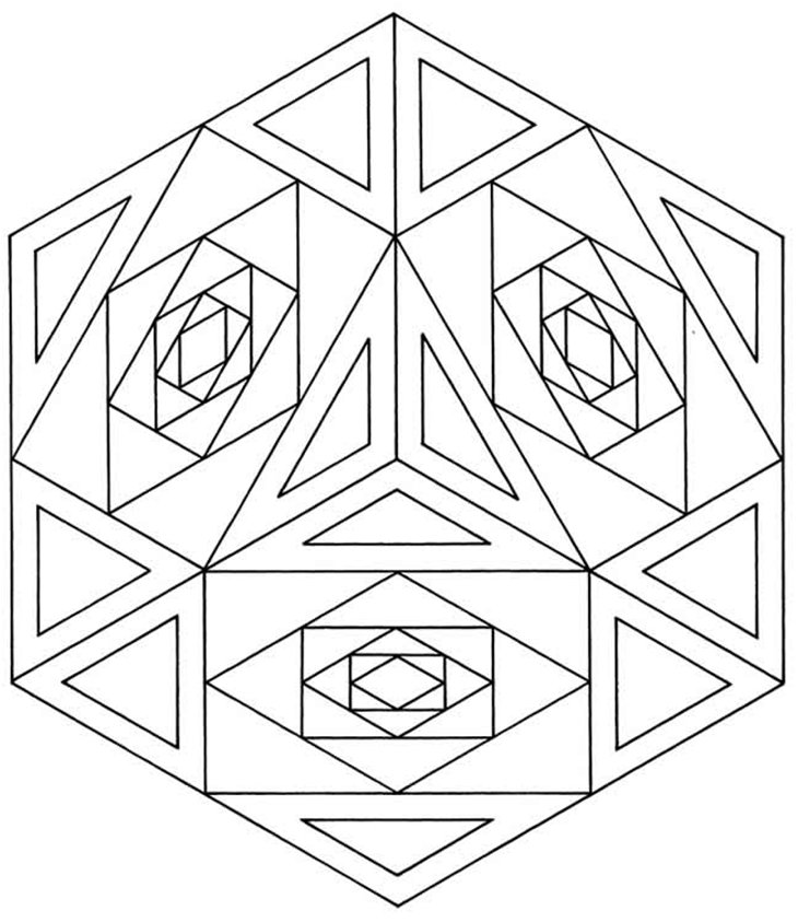 Islamic Geometric Pattern 1 Activity Village - coloring pages geometric designs
