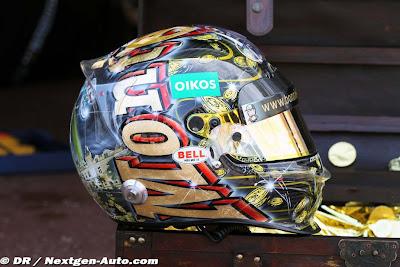 пиратский шлем Витантонио Льюцци специально для Гран-при Монако 2011 вид справа