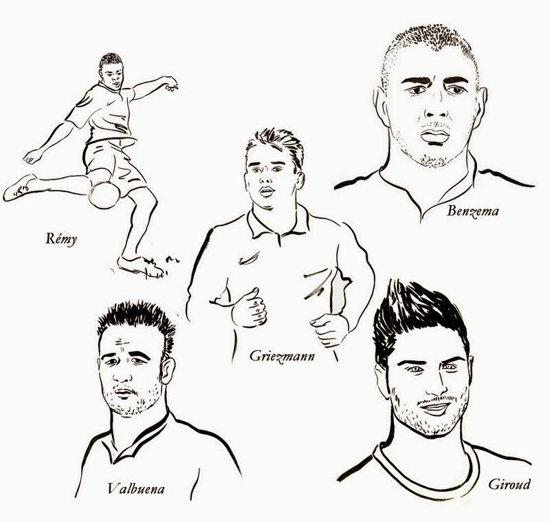 Dessin de foot a colorier gratuit - Dessin de joueur de foot a imprimer ...