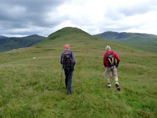 Striding off towards Hen Comb
