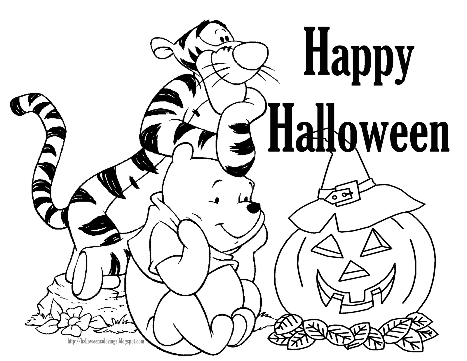 Halloween Worksheets and Coloring Pages TLSBooks  - halloween printable coloring pages free