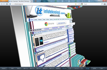 Firefox 11 Page Inspector 3D view