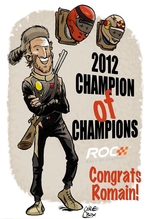 Ромэн Грожан чемпион чемпионов - комикс Cirebox по Гонке чемпионов 2012