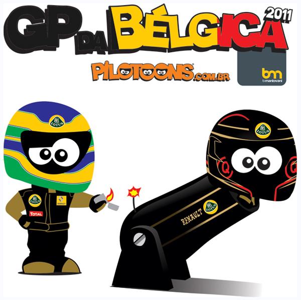 pilotoons Бруно Сенна заменяет Ника Хайдфельда в Lotus Renault на Гран-при Бельгии 2011