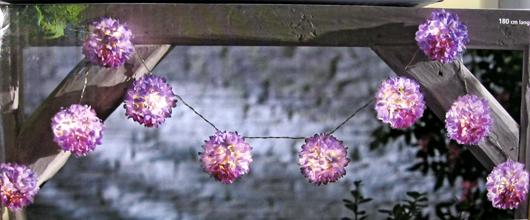 lichterkette girlande allium led blumen bl ten garten balkongel nder balkon ebay. Black Bedroom Furniture Sets. Home Design Ideas