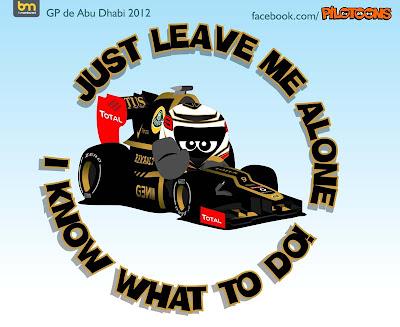 Кими Райкконен Lotus - pilotoons по Гран-при Абу-Даби 2012