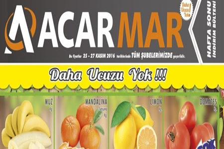 Acarmar Marketlerde 25- 27 Kasım Hafta SOnu İndirimleri