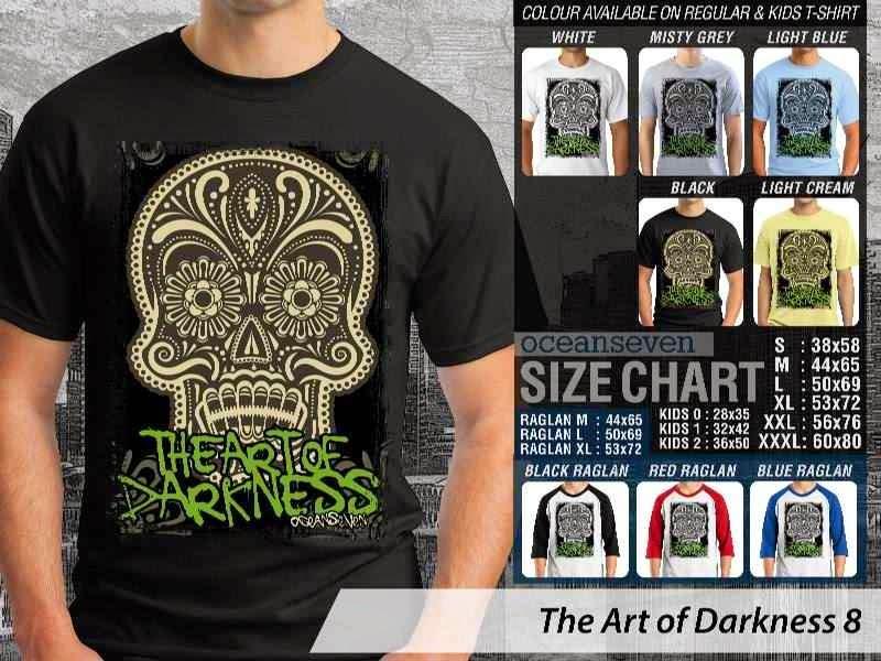 KAOS keren skull tengkorak The Art of Darkness 8 distro ocean seven