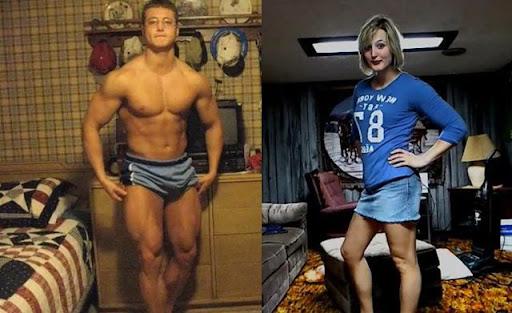 Incrível transformação de homem para mulher