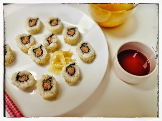 tuna mayo sushi, mean mother cooker
