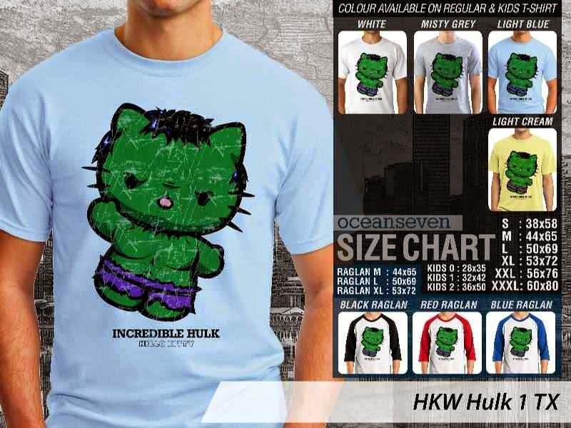 Kaos kartun lucu Hulk 1 distro ocean seven