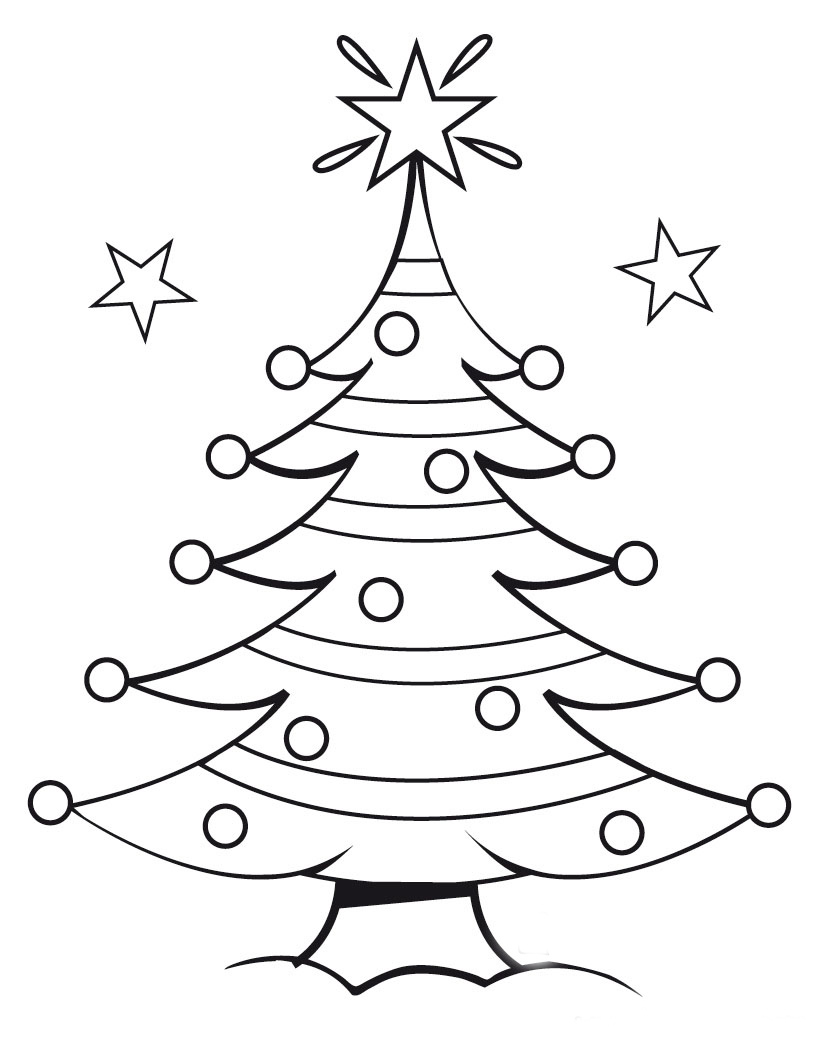 coloring pages christmas ornaments - Printable Christmas Coloring Pages Mr Printables
