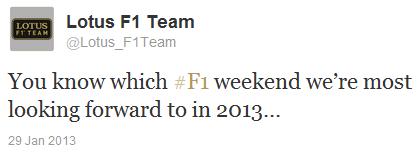 Lotus в твиттере о Гран-при Германии 2013