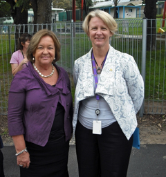 Minister Burch and Natalie Howson