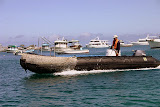 """Our Trusted Mode of Transportation in the Galapagos -- The Zodiac or """"Panga"""""""