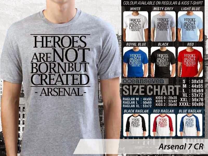 Kaos Bola Arsenal 7 Liga Premier Inggris distro ocean seven