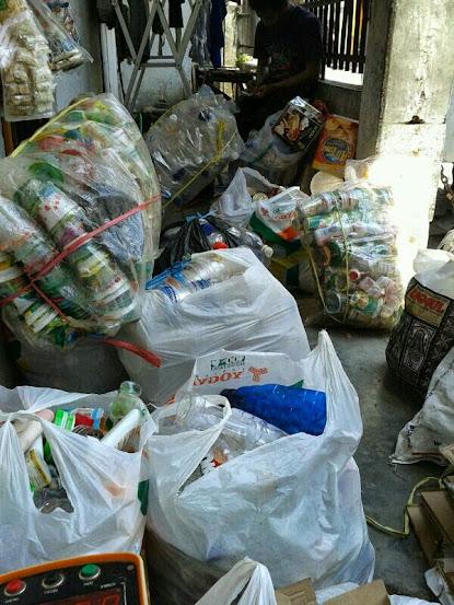 Sampah yang terkumpul