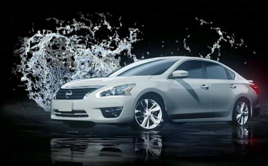 2013 Nissan Altima A 3D Water Projection Display