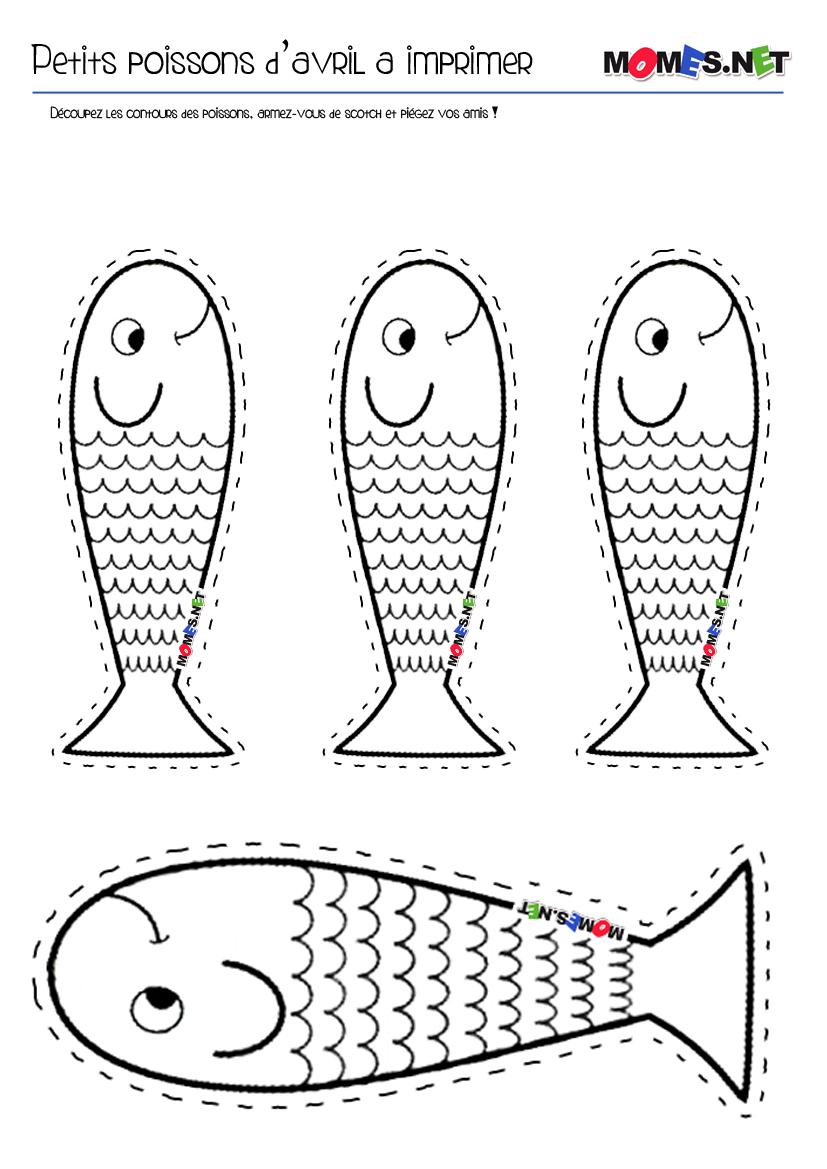 Dessin de poisson a colorier et a imprimer - Dessins poissons d avril ...