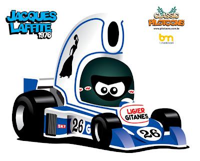 pilotoons Жак Лаффит Ligier 1976