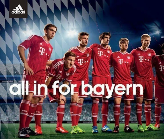 Bayern Munich Kits 2013-2014 Home Away Shirts Official
